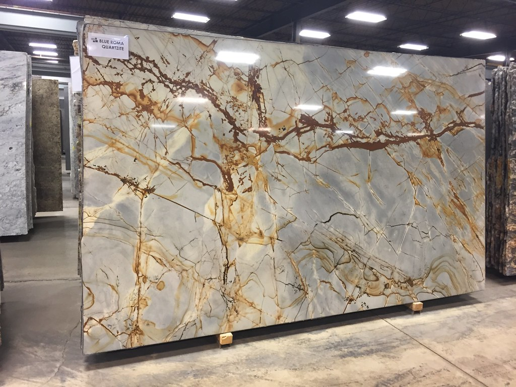 Kitchen Island Slab - Blue Roma Quartzite | lexzion | Flickr