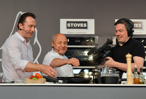 chef aldo zilli ideal home show 2015 manchester by tony worrall