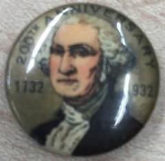 Classroom excavation Washington Bicentennial button find