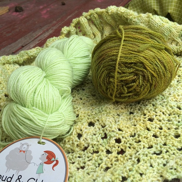 Possible bind-off yarns? (Not sure either work...trying to work from stash here.)