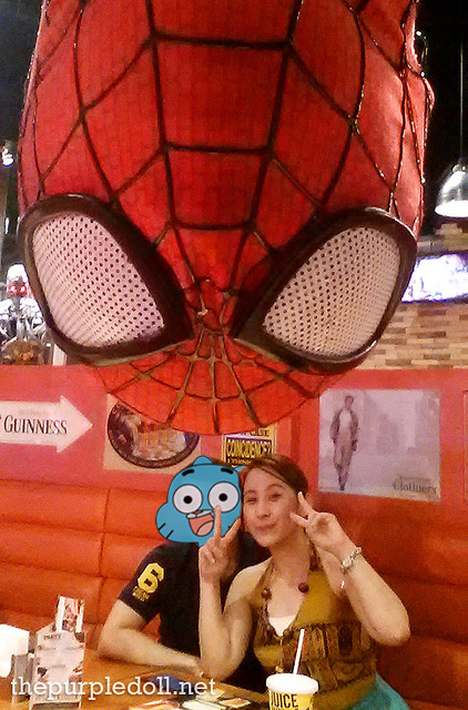 Creative Selfie with Spiderman at Movie Stars Cafe