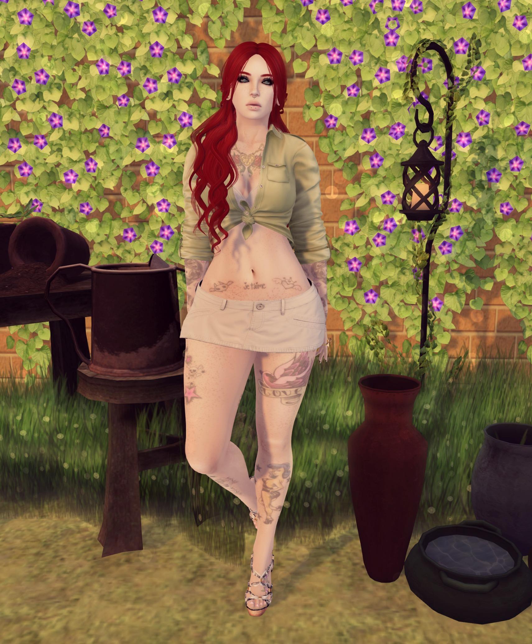 in the garden..