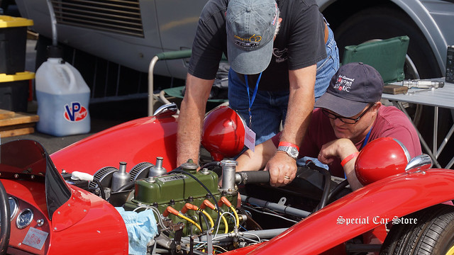 Vintage Race Car tune-up at Sonoma Historic Motorsports Festival