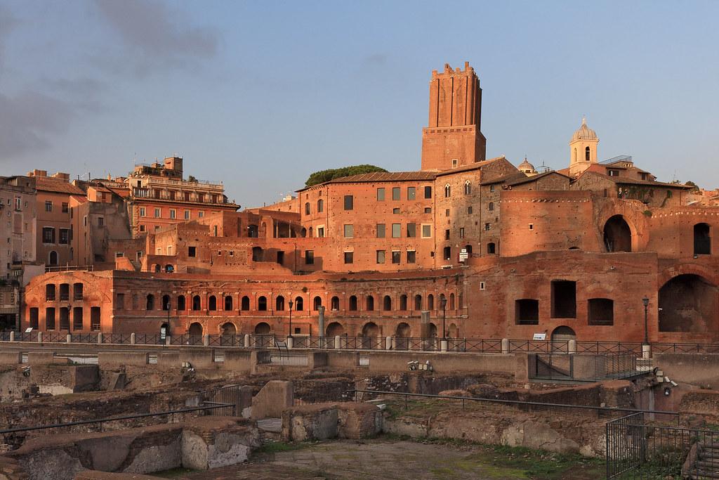 Rome - Trajan's Forum | Evening view from Via dei Fori Imper… | Flickr