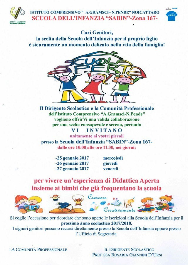 Noicattaro. Open Day Sabin intero