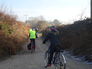 Clarion ride 22 January 2017. Hassocks to Lewes. Photo by Anne Barry