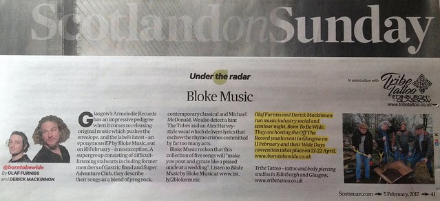 Scotland On Sunday, 5 February 2017, Bloke Music