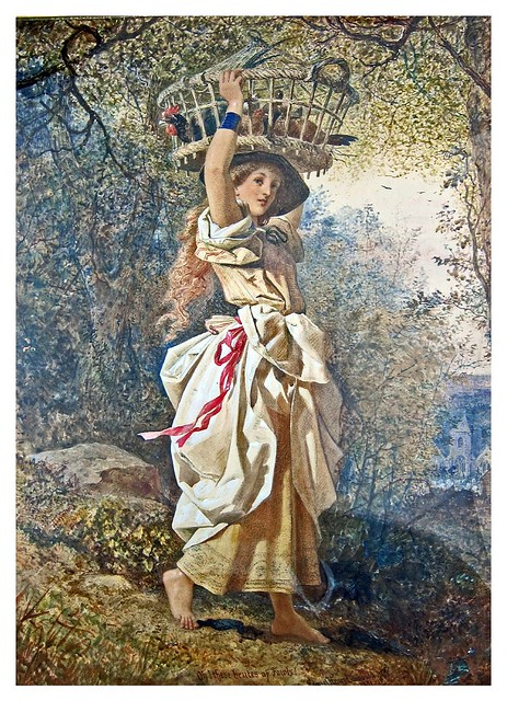 007-The Poultry Girl (1851)-E. H. Corbould-Via Victorian British Painting