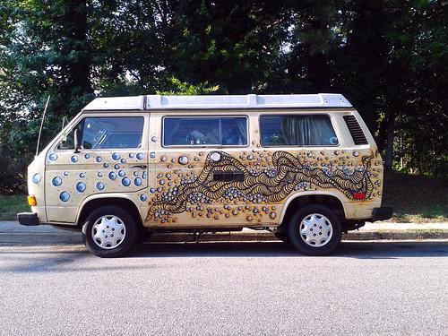 Cool VW Van on Old VA Beach Rd (June 14 2014)