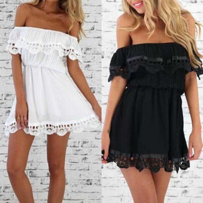 vestido blanco hombros al aire
