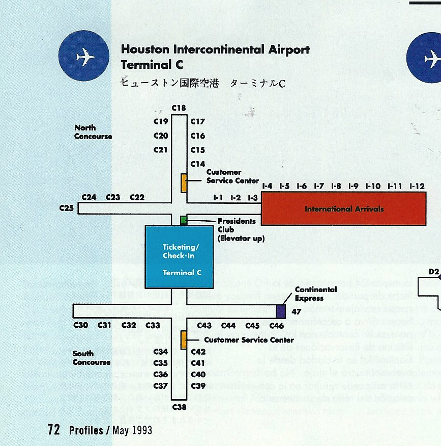 Continental IAH diagram, May 1993 | airbus777 | Flickr