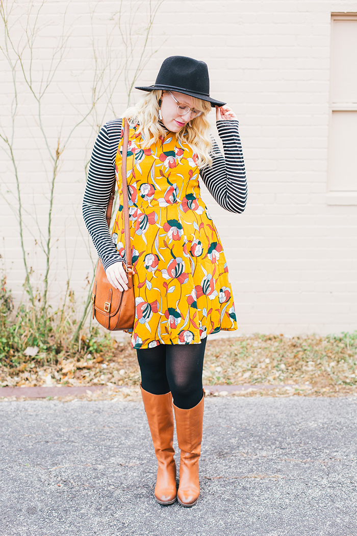 austin style blog tissue turtleneck layered modcloth dress15