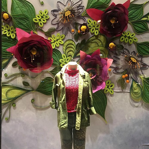 Anthropologie Window Quilling and Paper Flowers - Houston, Texas