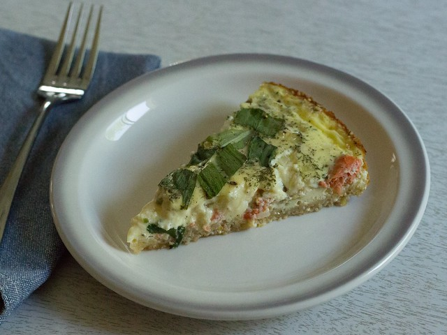 salmon ramp tart slice