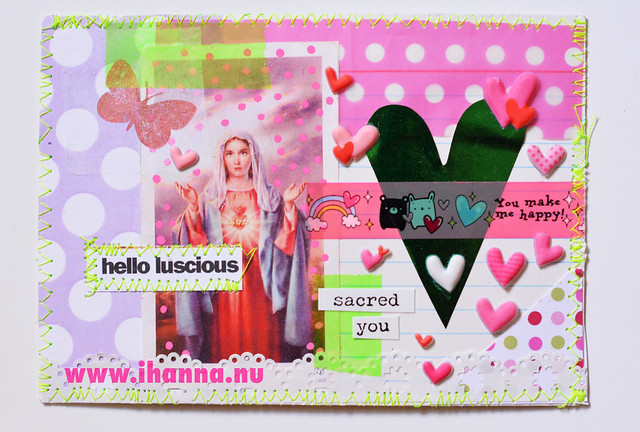 Index Card Postcard created by @ihanna of www.ihanna.nu #mailart #DIY #indexcard