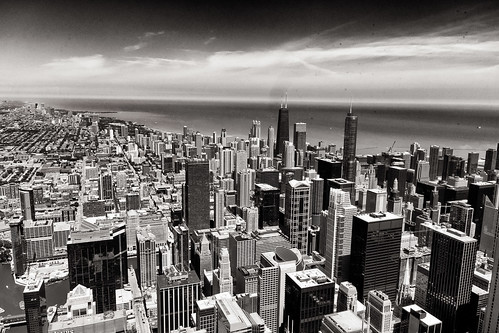 Sears Tower 9 bw