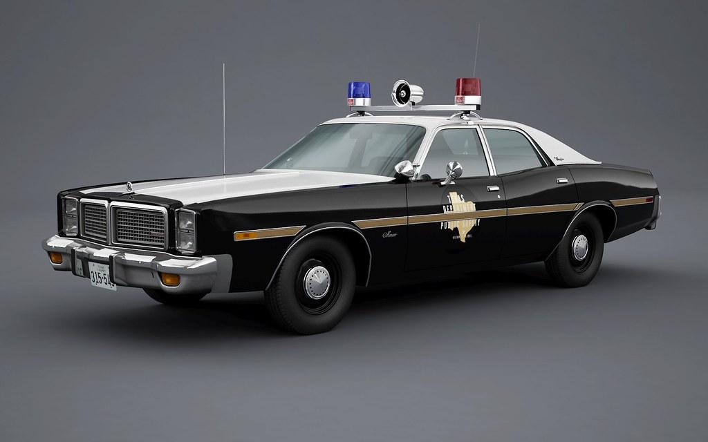 1977 Dodge Monaco Brougham Texas Highway Patrol  Roof hardw  Flickr
