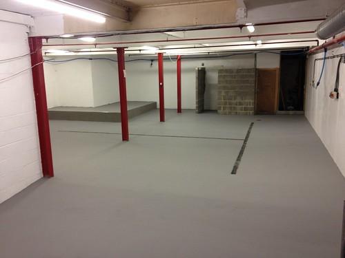Polyurethane epoxy floor all done :-)