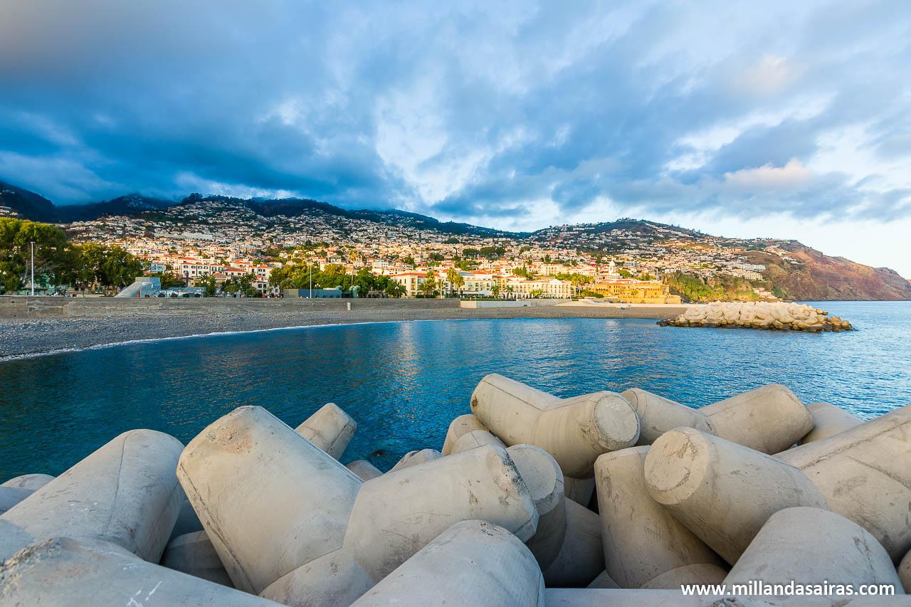 Puerto de Funchal desde el muelle