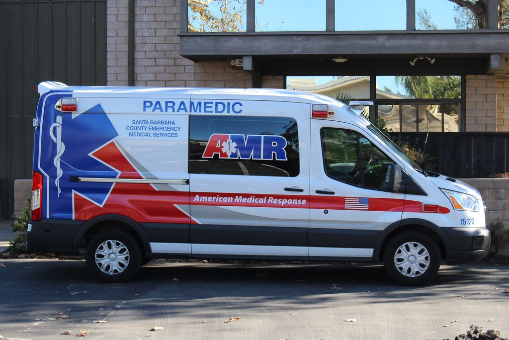 AMR | Ford Transit ambulance in Goleta, California. | So Cal Metro | Flickr