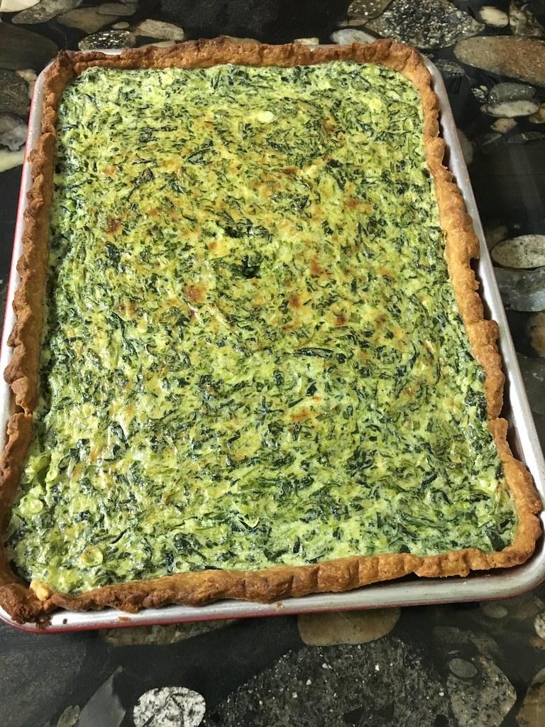 Smitten Kitchen\'s spinach sheet pan quiche | recipe here: sm… | Flickr