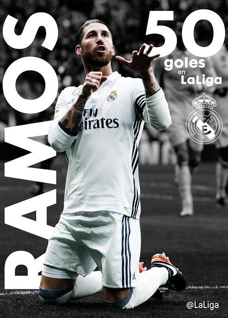 50 Goles de Sergio Ramos en La Liga
