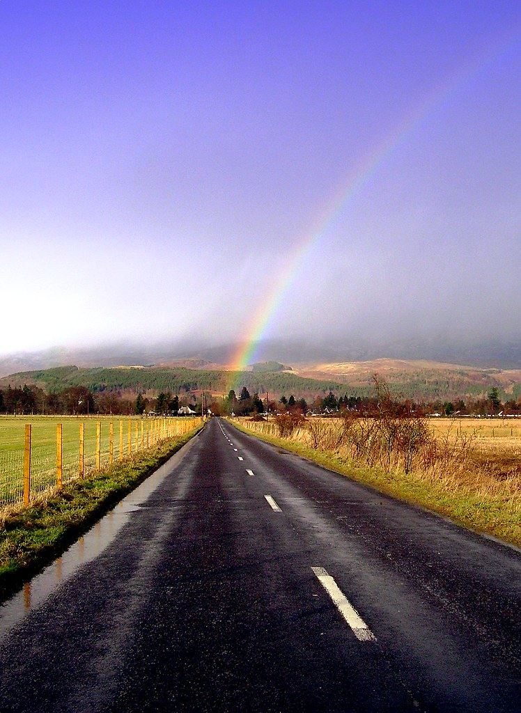 T for Treasure at end of the road at the end of the rainbo ... At The Roads End