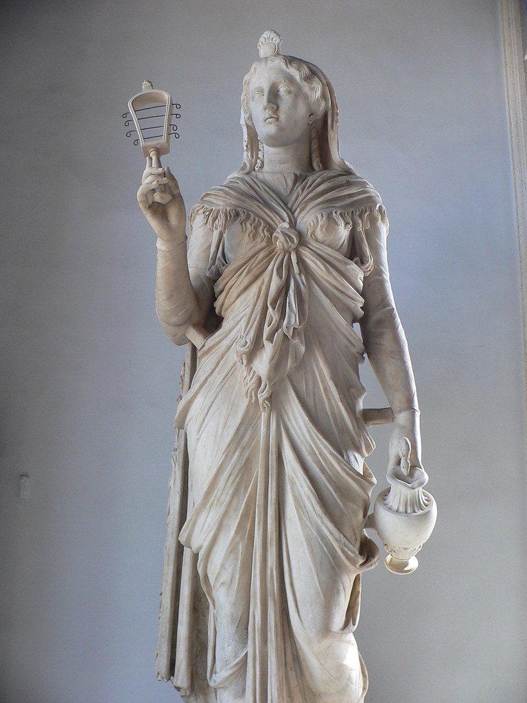 Isis Holding A Sistrum The Goddess Isis Holding A