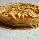 Layered apple and custard loaf