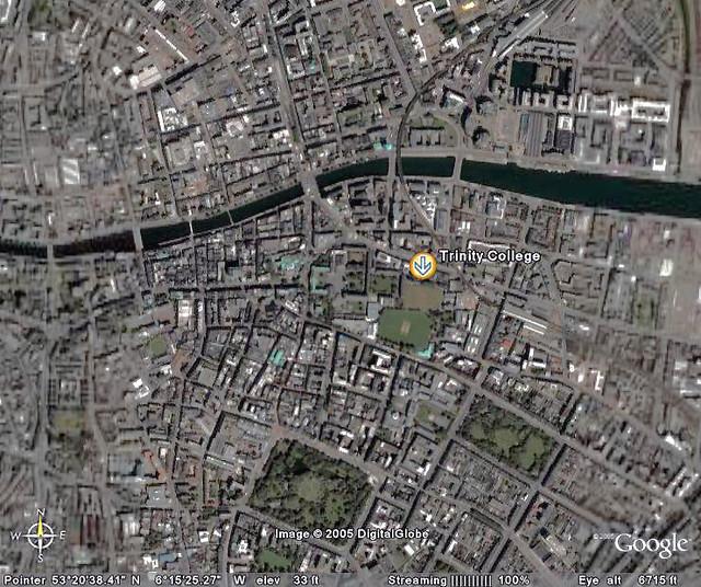 Dublin Satellite View Satellite View Of Dublin For A