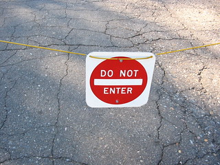 Do No Enter Sign | by Chris Campbell