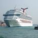 Cruiseship leaving Venice
