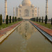 ankur, luke, and I went to agra. we saw the taj at sunrise. it glowed.