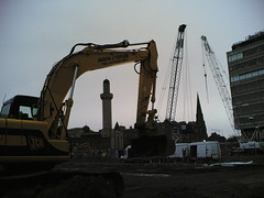 Mosque and Church with Cranes and Digger | by mp4man