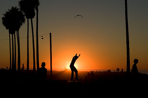 Venice Beach Skater on Sunset | by Vu Bui