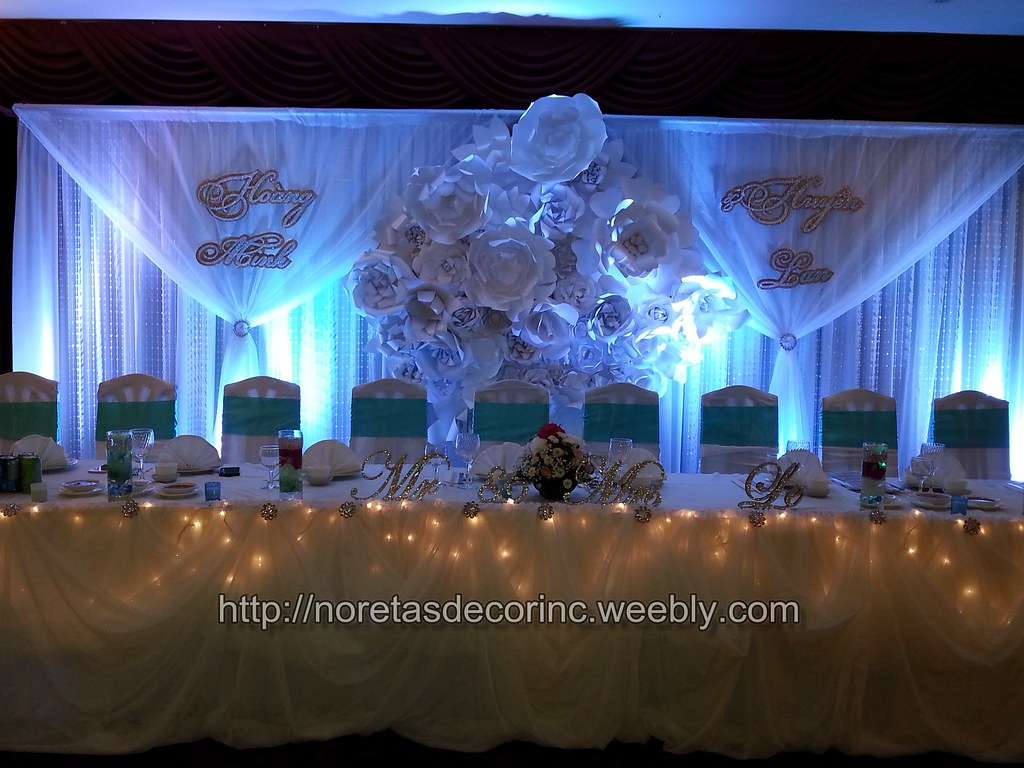 Beautiful wedding backdrop banquet hall decoration recep for Backdrops decoration