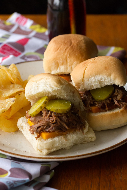 Root Beer Pulled Pork Sliders