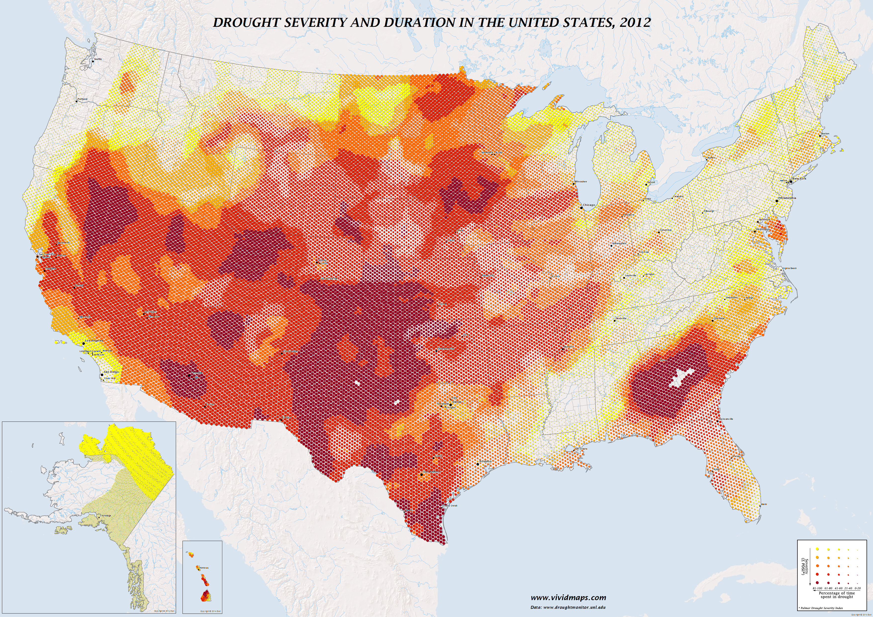 Drought severity and duration in the United States (2012)