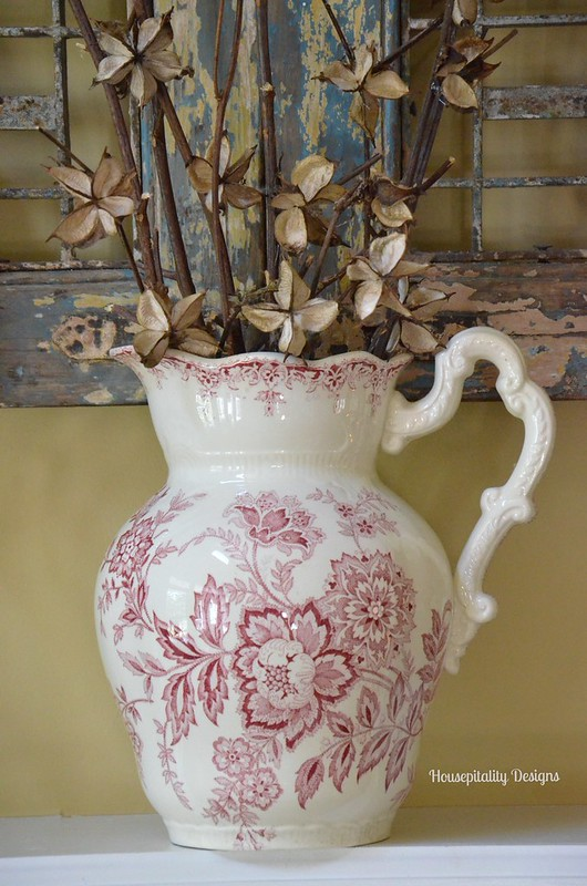 Antique Transferware Pitcher-Housepitality Designs