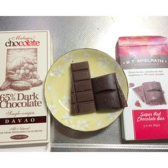 tasting @malagoschocolate single origin bean to bar & b.t. mcelrath super red chocolate bar♡ #chocolate #philippines #usa