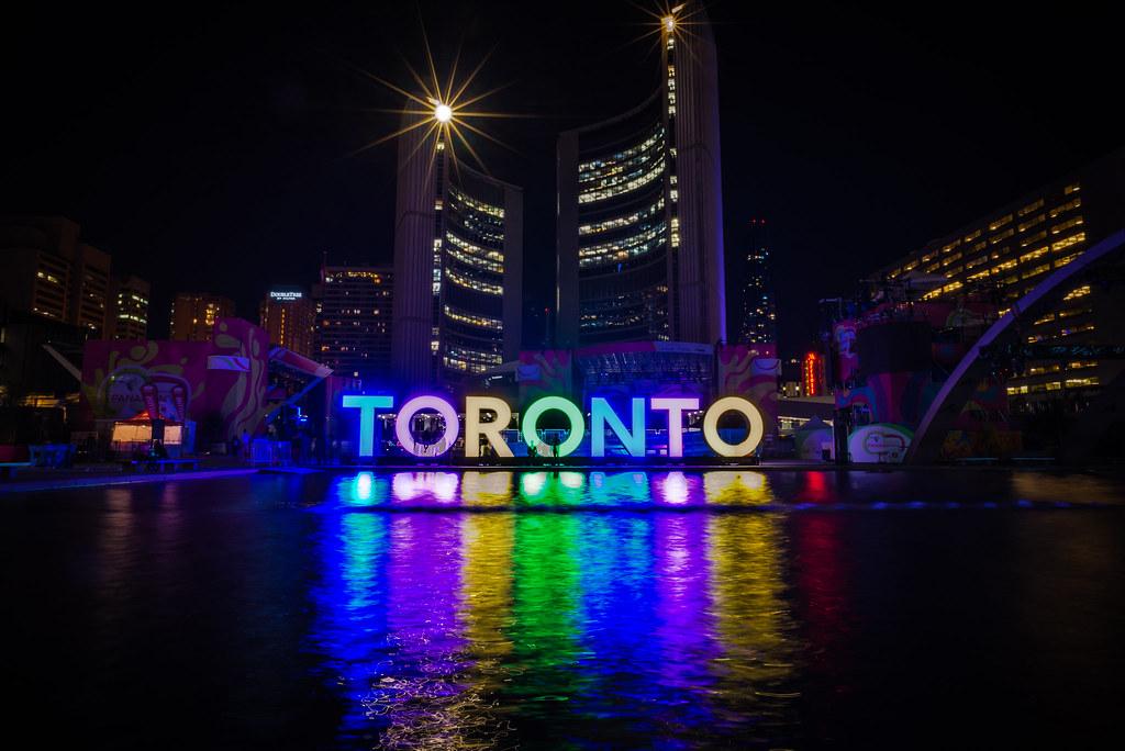Toronto 3D Sign Night Toronto 3D Sign After Panamania