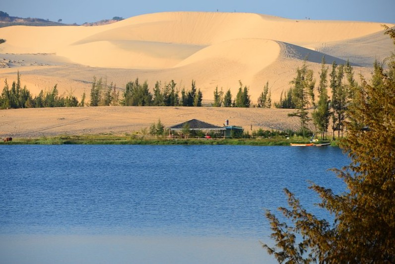 White Sand dunes - Lotus lake
