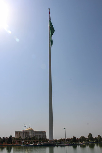 Bayrak flagpole, Dushanbe | by Timon91