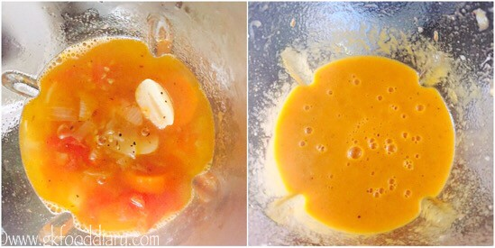 Carrot Tomato Soup Recipe for Babies, Toddlers and Kids - step 4