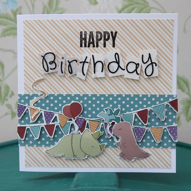 StickerKitten Birthday Dinos cards with a modern twist - cute cards