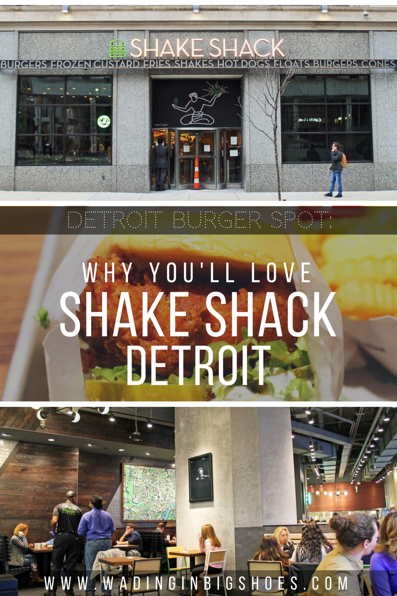 Shake Shack Detroit Might Be Your New Favorite Burger Spot /// From sandwiches, fries, and shakes to local flavors and an awesome location, learn why long-time fans and newbies alike are sure to love the new Shake Shack in Downtown Detroit, Michigan. /// via Wading in Big Shoes