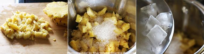 How to make Pineapple Juice Recipe - Step1