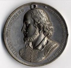 1864 Shakespeare Tercentenary Medal obverse