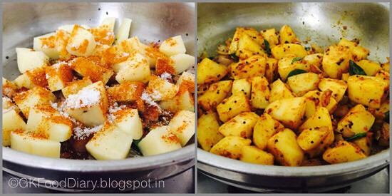 South Indian Potato Roast - step 2
