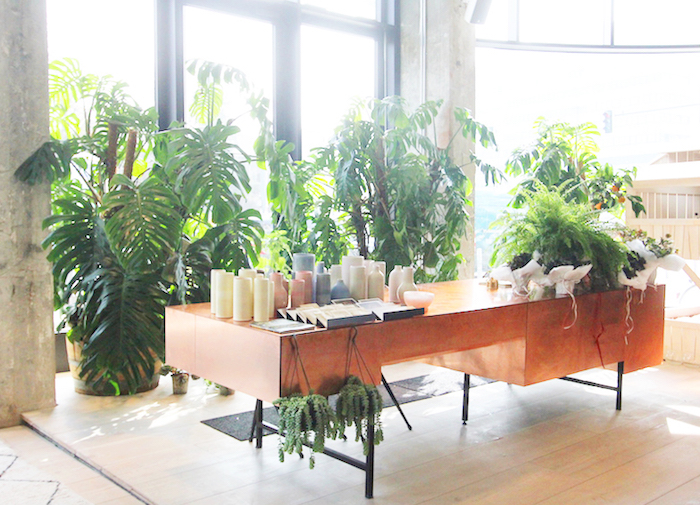 The Store Soho House Berlin copper bureau and big plants